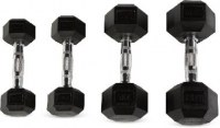 Rubber Hex Dumbbells of fitness accessories