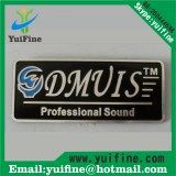 Aluminum nameplate costomized logo metal label adhensive sticker embossed tag name plate
