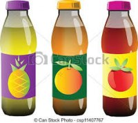 Fruits juice, mineral water