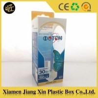 Customized plastic LED bulbs packaging box manufacturer