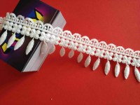 China manufacturer produce off white embroidery lace 4.5 cm L2-00001