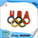 Olympic rings lapel pin badge metal crafts products