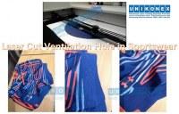 Laser cut ventilation hole in sportswear