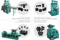 Hydraulic Briquette Extruder Wood Charcoal Processing Line Charcoal Briquette Making Ma...