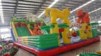 Used commerical playground equipment inflatable combo castle slide	for kids
