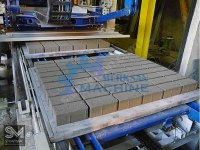 Brick making machine, breeze block, interlocking pavers
