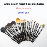 With a make-up brush, to create a more beautiful you