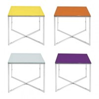 ROUND OR SQUARE SIDE TABLE VARIOUS COLORS