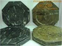 Fossilized marble plates