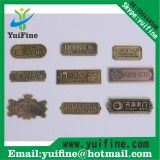 High Quality Antique Copper Metal Label For Furniture/Brass Nameplate/Customized Log Em...