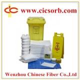 Oil spill absorbent materials