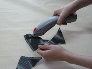 Carbon fiber cutting scissors