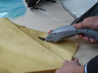 Body armor cutting scissors
