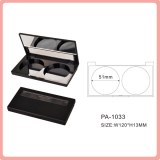 Matte double colors compact powder case with mirror cosmetic packaging