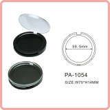 Round shape empty compact powder case cosmetics packaging