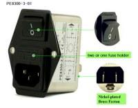 PE8300-3-01 3A 120V/250V emi emc filter for TV equipments