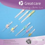 Safety IV cannula pen like iv catheter, iv cannula with injection port