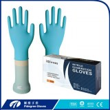 Disposable black Nitrile examination gloves supported hand gloves