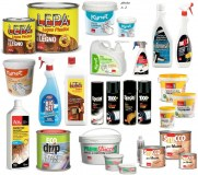 Clearance stocklot paints,mastics,waxes,enamels, paint removers, hand-washing pastes & gels and...