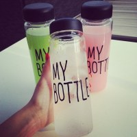 plastic water bottles with customed logo