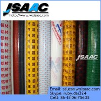 Protection film for aluminum profile, aluminum window and door, coated aluminum plate