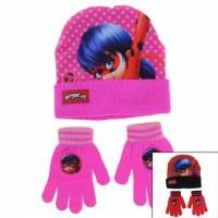 3x LadyBug Caps and Gloves