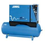 Compresseur d'air silencieux cylindres en fonte et réservoir horizontal