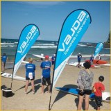 Promotional custom feather flags flying beach flags
