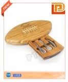 Lovely oval wooden cheese set(4 pieces)