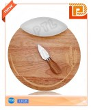 Wooden cheese set with oval ceramic bowl(3 pieces)