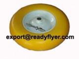 PU rubber wheel for wheel barrow