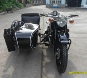 Classic style 750cc motorcycle sidecar with black color
