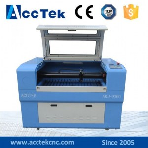 Co2 laser engraving cutting machine for wood, acrylic,leather, rubber,glass,stone,double color bo...