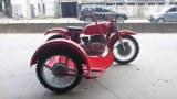 Customized red color 750cc motorcycle sidecar