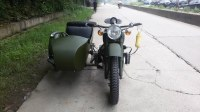 Customized green color 750cc motorcycle sidecar
