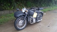 High Configure Greman Grey Motorcycle Sidecar