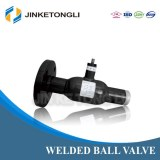 JINKETONGLI 2016 new Medium Pressure Single Flange SS welded Ball Valve
