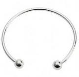 Bracelet classic en metal et en forme de C ( gris metal )