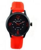 Grossiste et fournisseur chinois Montre fantaise noir et rouge, bracelet en silicone....