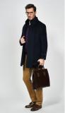 New design black 10% cashmere 90% wool overcoat wool cashmere coat men