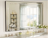Modern Bathroom Decorative wall mounted Frameless Beveled Mirror