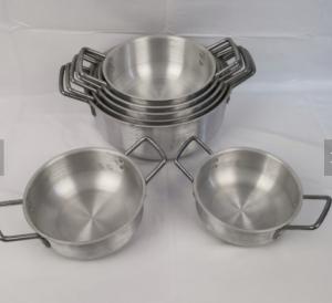 5 Pcs home aluminium cooking pots for sale