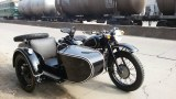 Customized Cool 750cc Shinny Black with Pinstripe Racing Motorcycle Sidecar 90km/h