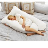 """Puredown U Shaped Maternity/Pregnancy Body Pillow with Zippered Cover, 32""""x56"""""""