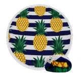 Custom printed oversized 1.5m D' pineapple fruit round beach towel