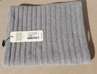 SCARF 100% PURE CASHMERE RIBBED MADE IN ITALY