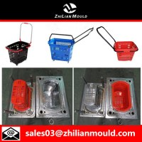 Plastic injection shopping basket mould with high quality