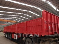 Drop side cargo semi trailer vehicle structure