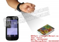 XF new sleeve cuff camera to scan side-marks bar-codes marked playing cards for poker...