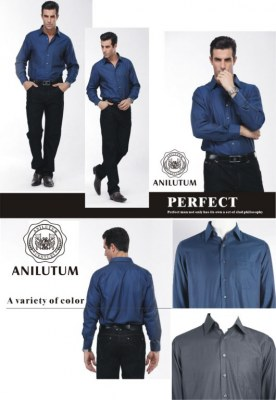 Anilutum Brand Slim Solid Color Long-sleeved Shirt V211141